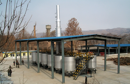 LRCB carbonisation unit for charcoal production